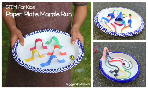 paper plate mazes